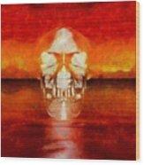 Crystal Skull Wood Print
