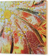 Crystal Sunburst Wood Print