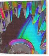 Crystal Teeth Wood Print