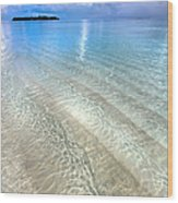 Crystal Water Of The Ocean Wood Print by Jenny Rainbow