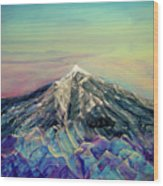 Crystalline Mountain Wood Print