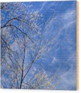 Crystalline Sky Wood Print