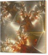 Crystals Of Gold Wood Print