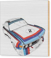 Csl Batmobile Wood Print