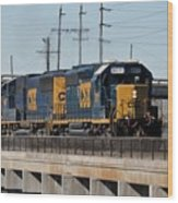 Csx 8011 Bone Valley Bound Wood Print