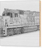 Csx Diesel Locomotive Wood Print