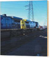 Csx Engines Going Bye Bound Brook Train Stations Wood Print
