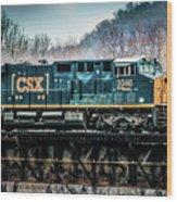 Cs X  Ge Engine 3046 On Trestle Wood Print