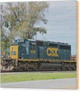 Csx Sd40-3 Wood Print