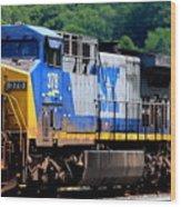 Csx Train 378 Wood Print