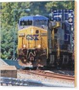Csx Train Rounding The Bend Wood Print