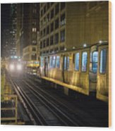 Cta Meet At The State-lake Street Station Chicago Illinois Wood Print