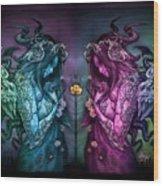 Cthluhu Rainbow Wood Print