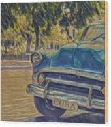 Cuba Car Wood Print