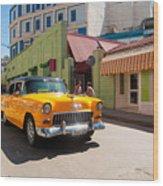 Classic Cuba Cars IIi Wood Print
