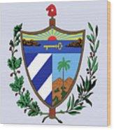 Cuba Coat Of Arms Wood Print