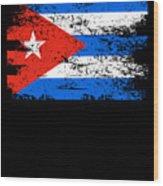Cuba Flag Gift Country Patriotic Travel Shirt Americas Light Wood Print