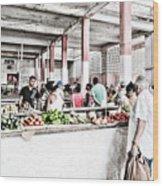 Cuba Market Wood Print