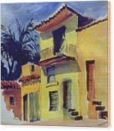 Cuban Architecture Wood Print