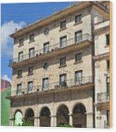 Cuban Building. Wood Print