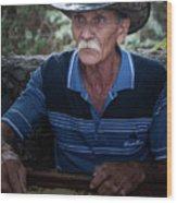 Cuban Domino Player, Manaca Iznaga, Cuba Wood Print