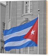 Cuban Flag Wood Print