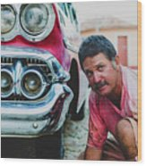 Cuban Mechanic Wood Print