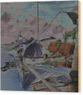 Cuban Refugee Raft  3 Wood Print