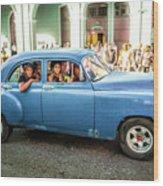 Cuban Taxi Wood Print