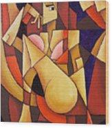 Cube Woman Wood Print