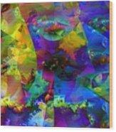 Cubed Fractals Wood Print