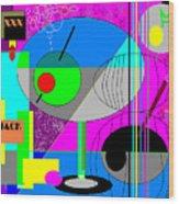 Cubic1 Wood Print
