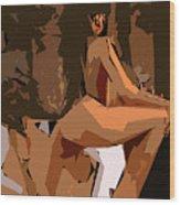 Cubism Series Xix Wood Print