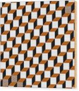 Cubism Squared Wood Print