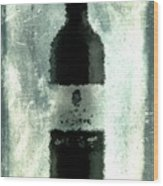 Cubist Red Wine Wood Print