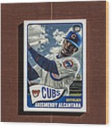Cubs Card Collection Wood Print