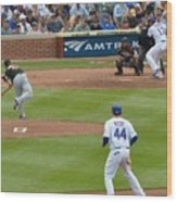 Cubs - Eye On The Ball Wood Print
