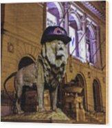 Cubs Lion Hearts Wood Print