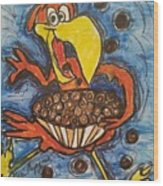 Cuckoo For Cocoa Puffs Wood Print