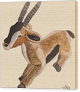 Cuddly Gazelle Watercolor Wood Print