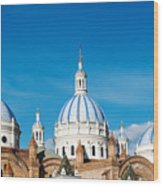 Cuenca Cathedral Domes Wood Print