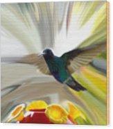 Cuenca Hummingbird Series 1 Wood Print by Al Bourassa
