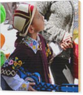 Cuenca Kids 155 Wood Print by Al Bourassa