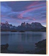 Cuernos Sunrise Part 1 - Chile Wood Print