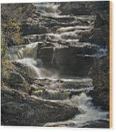 Cullasaja Falls In Autumn Close Up Wood Print