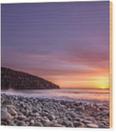 Cullernose Point At Sunrise Wood Print
