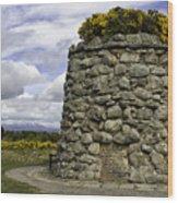 Culloden Battlefield Cairn Wood Print