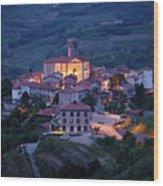 Cultural Heritage Monument Medieval Hilltop Village Of Smartno B Wood Print