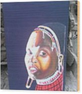 cultural Masaai Woman Wood Print