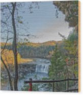 Cumberland Falls Ky From Eagle Falls Trail Wood Print